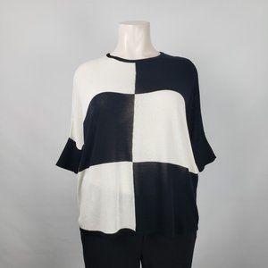 NWT OFV Black & White Knit Top Size XL